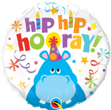 'Hip Hip Hooray!' Hippo Foil Balloon